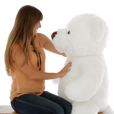 Giant Teddy Brand Chubs Super Soft 4 Foot White Teddy Bear