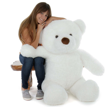 4 Foot Adorable Snow White Giant Teddy Bear