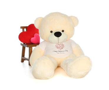 6 Foot Cream Teddy Bear for Valentine's Day Gift
