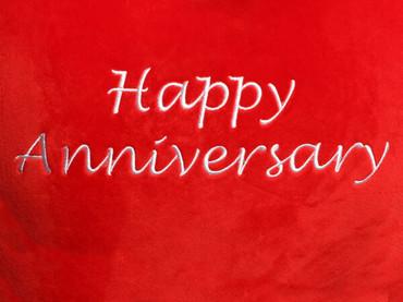 Happy Anniversary Heart Design (Close Up)