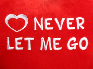 Never Let Me Go Heart Design (Close Up)