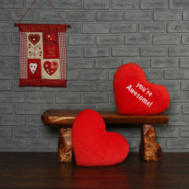 You're Awesome Red Heart Pillow