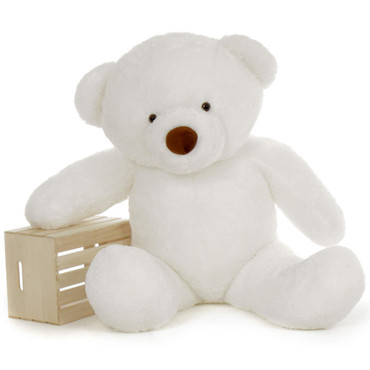 5 Foot White Teddy Bear with Premium Fluffy Soft Fur