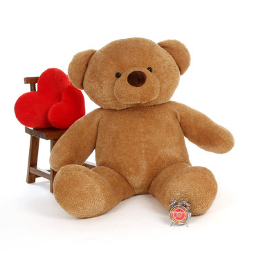 5ft Big Amber Teddy Bear Cutie Chubs