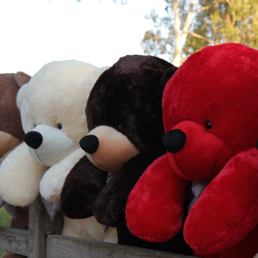 72 Inch Giant Plush Red Teddy Bear