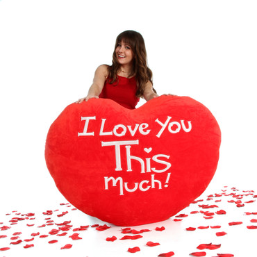 I Love You This Much Jumbo Heart