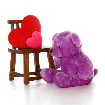 3ft Lila Chubs Purple Teddy Bear