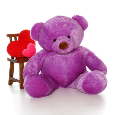Giant 5ft Size Lila Chubs Purple Teddy Bear