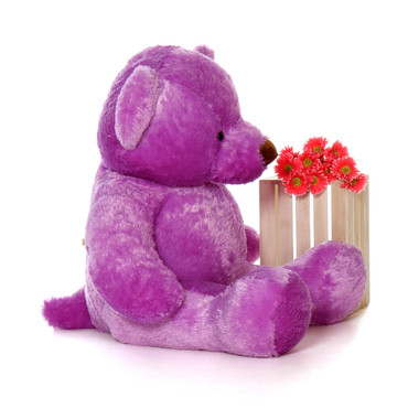 60in Purple Lila Chubs Life Size Teddy Bear