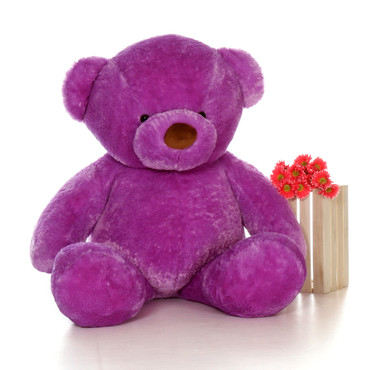 Biggest 6ft Size Lila Chubs Purple Teddy Bear