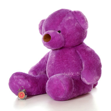 72in Purple Lila Chubs Life Size Teddy Bear
