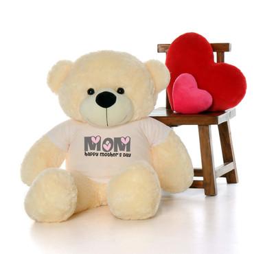 48in Vanilla Cozy Cuddles Happy Mother's Day Mom Teddy Bear