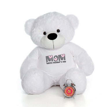 48in White Coco Cuddles Happy Mother's Day Mom Teddy Bear