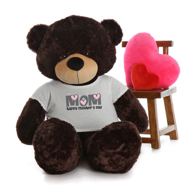 60in Chocolate Brownie Cuddles Happy Mother's Day Mom Teddy Bear