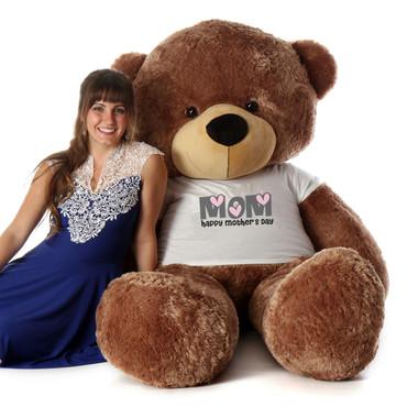 72in Mocha Sunny Cuddles Happy Mother's Day Mom Teddy Bear