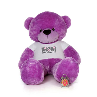 72in Purple DeeDee Cuddles Happy Mother's Day Mom Teddy Bear