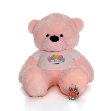 6 Foot Pink Lady Cuddles Happy Birthday Personalized Teddy Bear