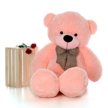60 inch Soft Pink Teddy Bear Huge Life Size Plush Teddy Bear Plush Sweet Lady Cuddles