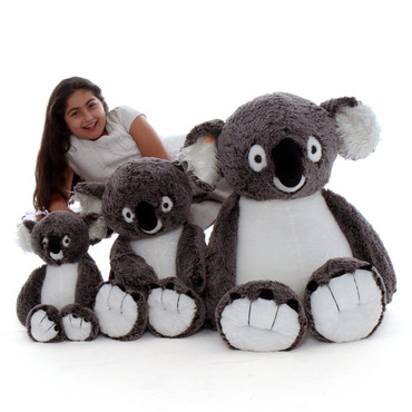 Stuffed Koala Family