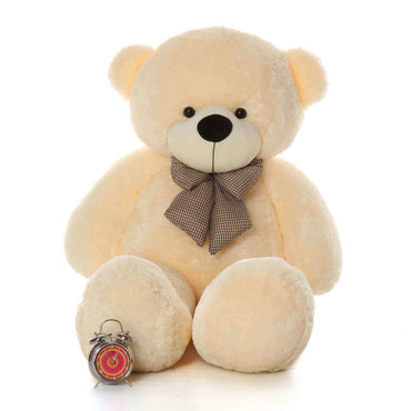 5ft Huge Cream Teddy Bear Cozy Cuddles