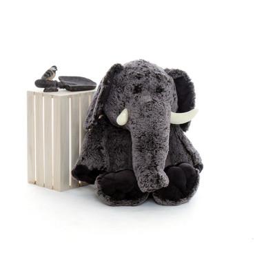 36in Enormous Grey Stuffed Elephant