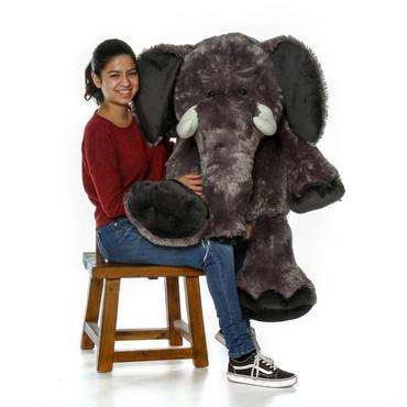 Life Size Gray Elephant Stuffed Animal with Model 4ft