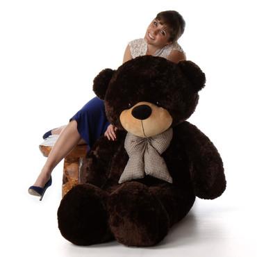 5ft Brownie Cuddles Chocolate Brown Teddy Bear