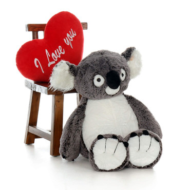 34 inch Koala with I love You Heart (Valentine's Day Gift)