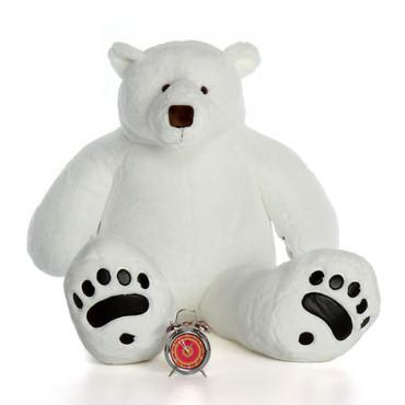 Giant Large Stuffed Polar Bear with Paws