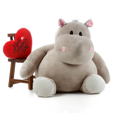 Big Stuffed Hippopotamus Stuffed Hippo Toy