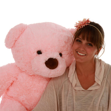 3ft Light Pink Cuddly and Soft Big Stuffed Teddy Bear Gigi Chubs