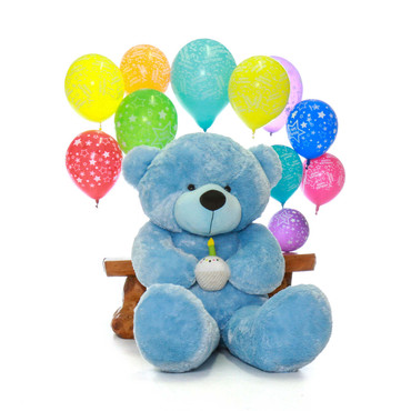 Sky Blue Giant Teddy Bear Birthday Present for Boy