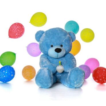 6 Foot Giant Blue Teddy Bear Present for Boy