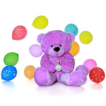 6 Foot Giant Purple Teddy Bear - Birthday Present