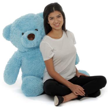 Big Adorable Blue Sammy Chubs Stuffed Teddy Bear 38in