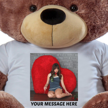 Giant Teddy Personalized T-shirt (Close Up)