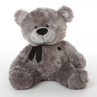 27in Silver Teddy Bear Diamond Shags