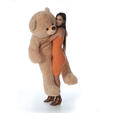 5 Foot Giant Supper Soft Fluffy Tan Teddy Bear