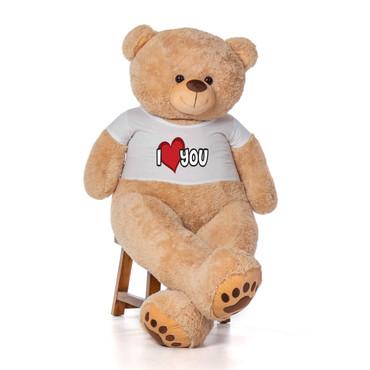 5ft giant tan Teddy Bear with T-Shirt