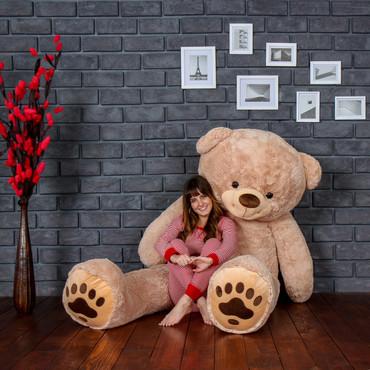 Biggest Teddy Bear! Absolutely Giant Teddy Bear measuring 7 Foot Tall