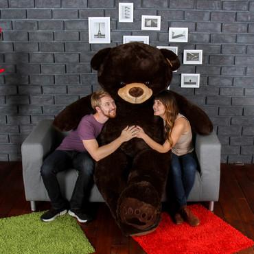 Giant Teddy Chocolate Brown Teddy Bear Enourmous 7 Foot Tall! Biggest Teddy Bear!