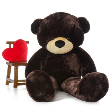 Biggest Giant Teddy Bear! 7 Foot Tall Chocolate Brown Brownie Cuddles