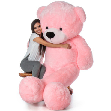 Biggest Pink Teddy Bear - Valentine's Day 7 Foot Teddy Bear by Giant Teddy