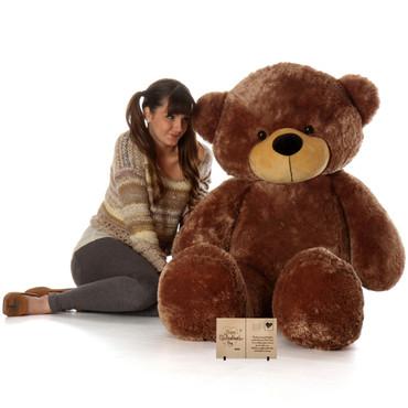 Life Size Mocha Brown Teddy Bear Sunny Cuddles 60in