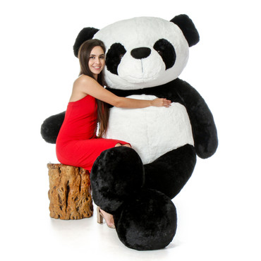 7 Foot Giant Life Size Panda Bear Rocky Xiong - Biggest Panda Stuffed Animal