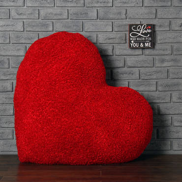 44in Massive Heart Cushion