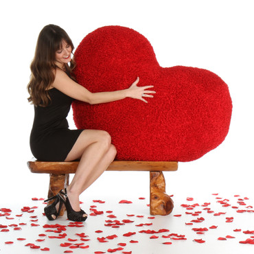 44in Giant Heart Pillow for Valentine's Day