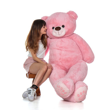 Super Soft Adorable Pink Teddy Bear - Life Size Giant Teddy Bear for Valentine's Day