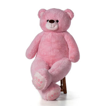 Super Soft Big Plush Stuffed Pink Teddy Bear by Giant Teddy Bear - Unique Valentine's Day Gift