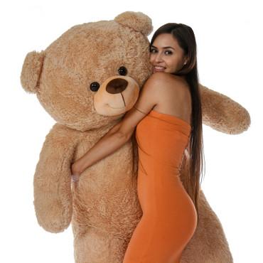 Giant Teddy 6 Foot Super Soft Amber Tan Teddy Bear